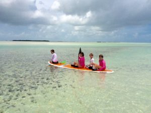 kids paddle with Keys Boat Tours