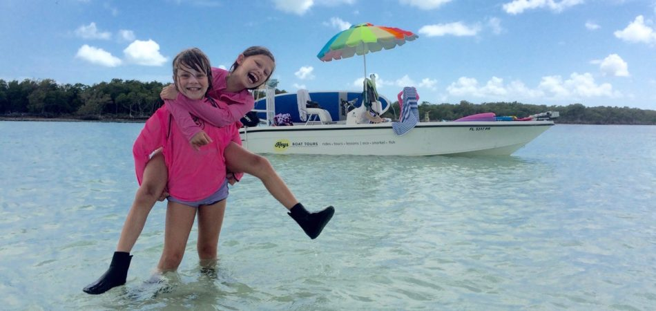 sister fun with Keys Boat Tours