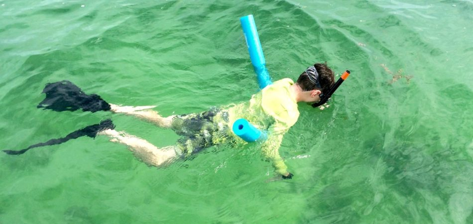 Keys Boat Tours family snorkel