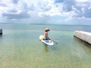 Allison Culbertson on a paddle board