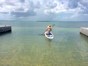 Allison Culbertson on a paddleboard