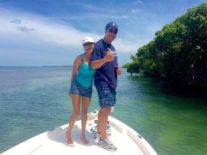 Couple enjoying an Eco Boat Tour with Keys Boat Tours